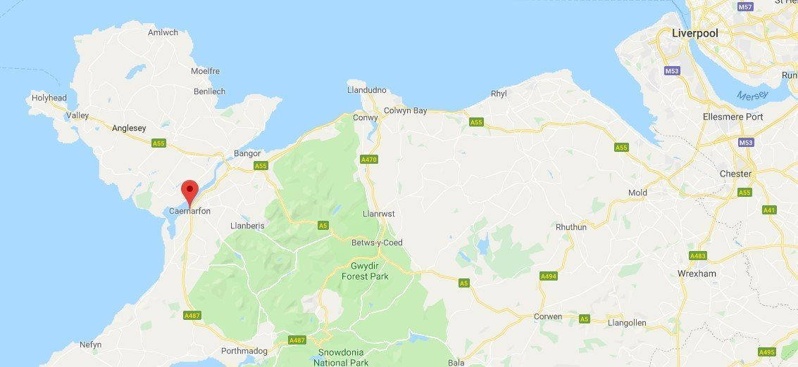 Dove si trova Caernarfon