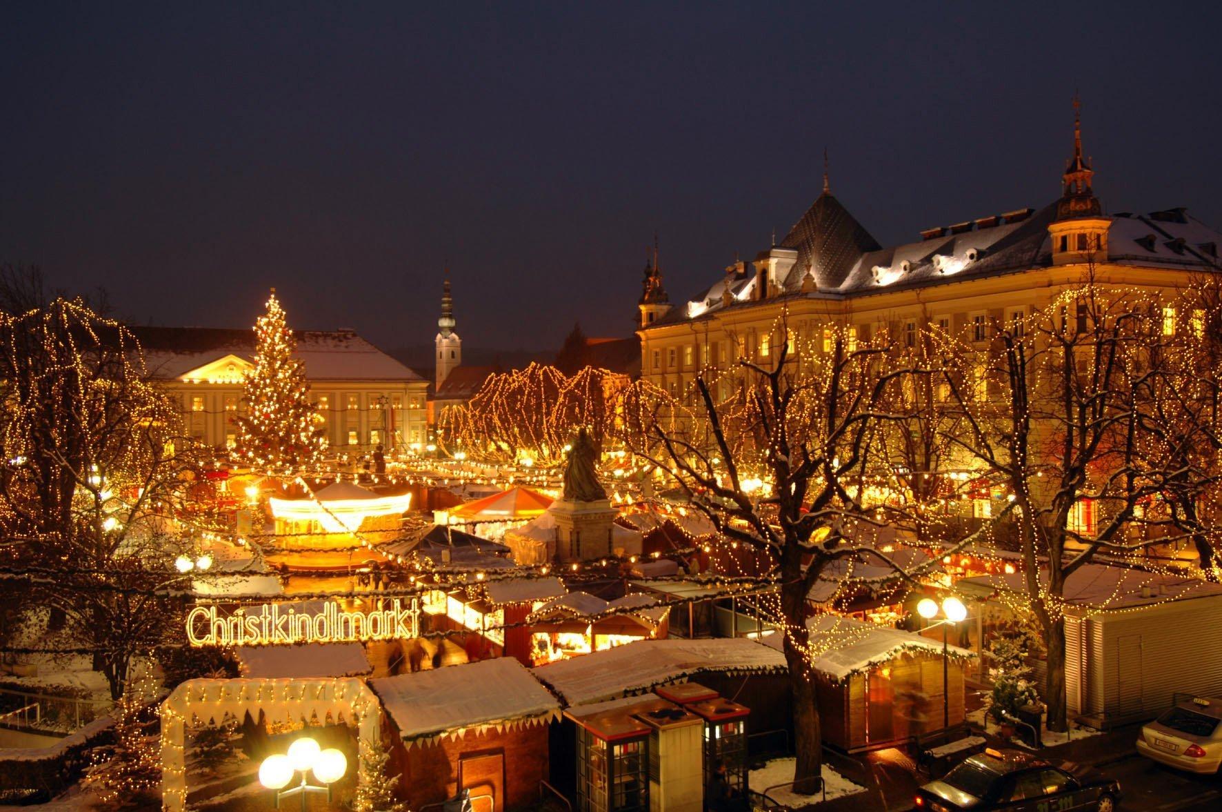 Il centro di Klagenfurt