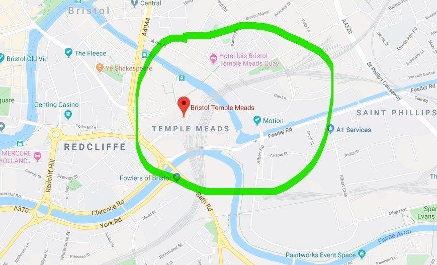Dove si trova Temple Meads a Bristol