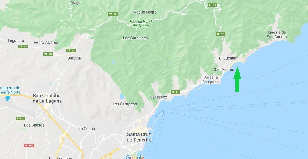 Dove si trova las teresitas a Tenerife
