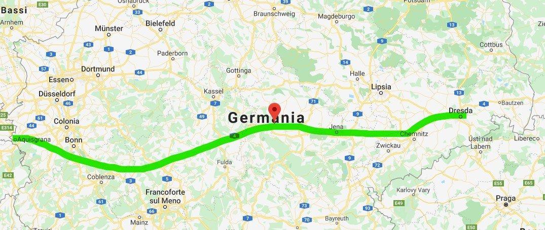 Percorso Autostrada A4 Germania