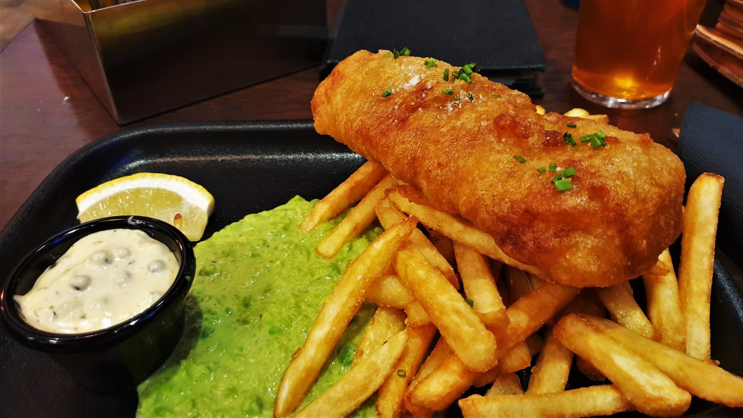 Fish and chips Halibut