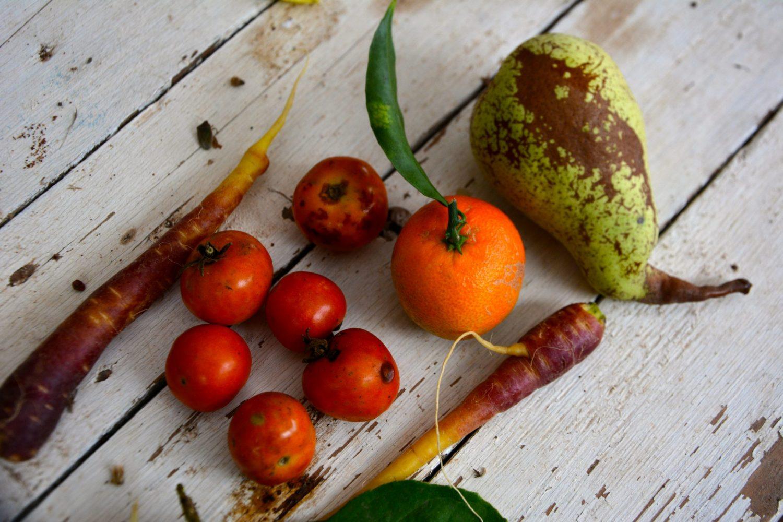 frutta e verdura con imperfezioni