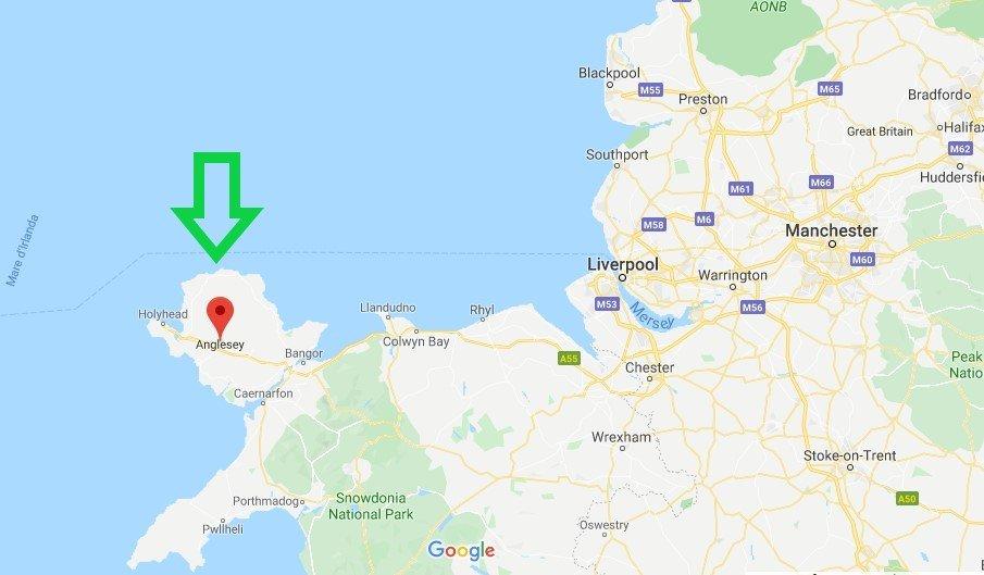 Dove si trova l'isola di Anglesey