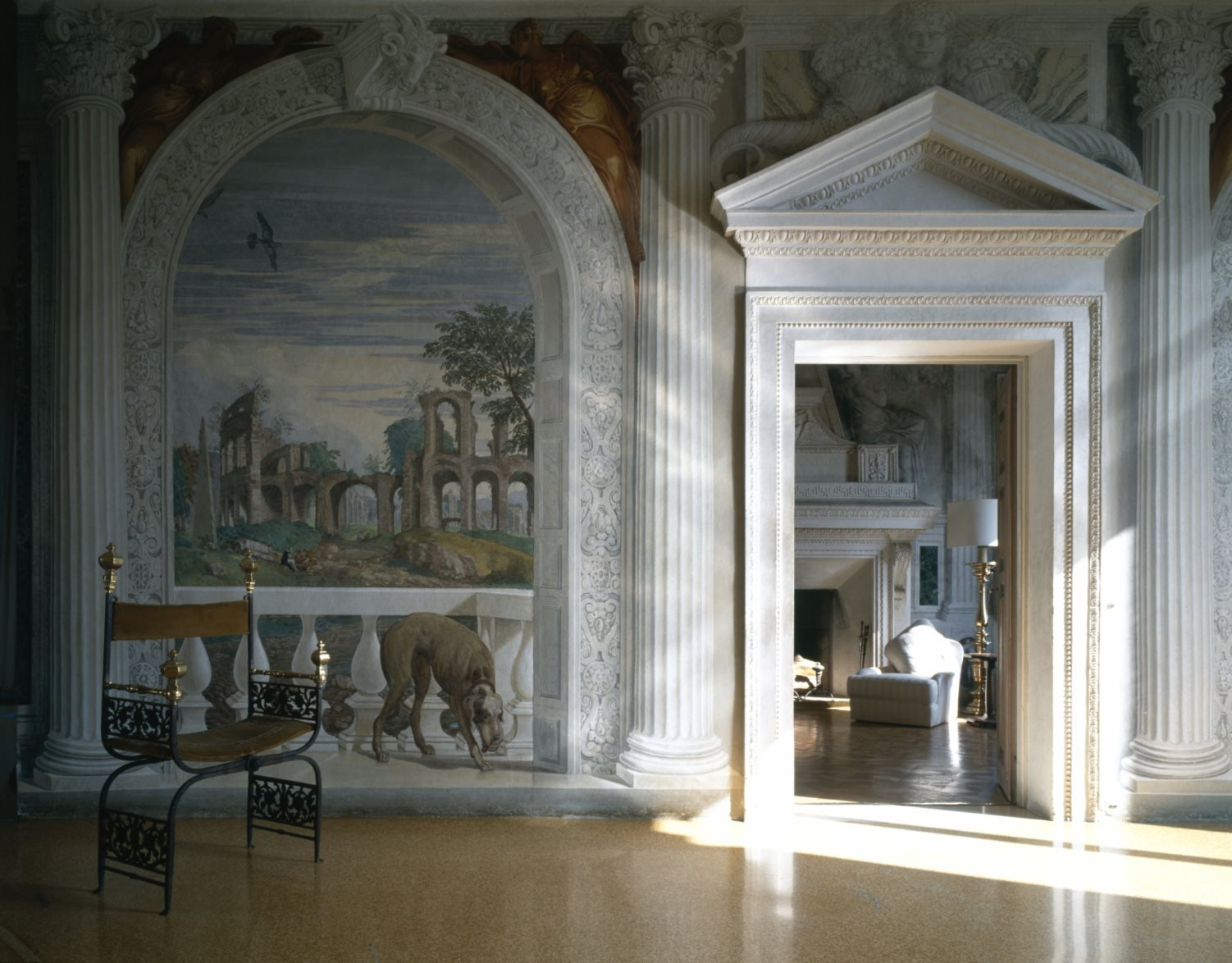 Villa Barbaro, Maser, Affreschi di Paolo Veronese