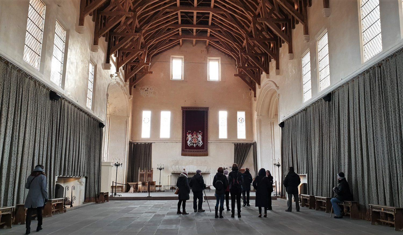 Gli interni del castello