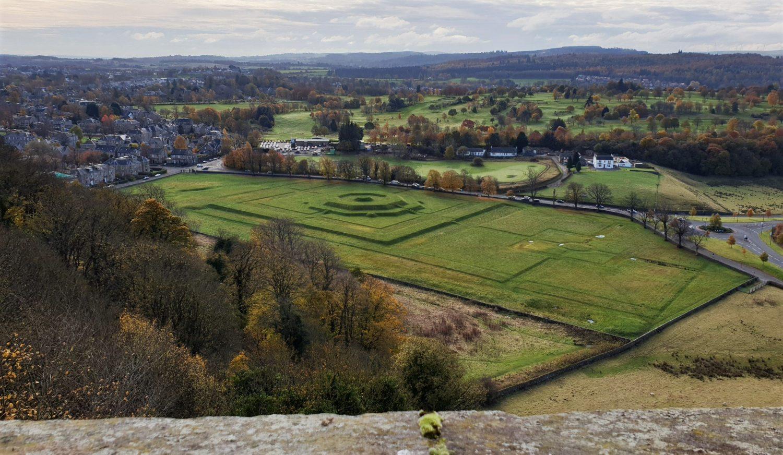 Panorama sul campo di battaglia
