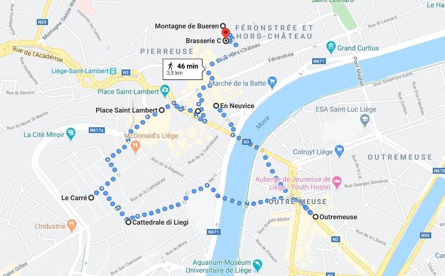 Itinerario per scoprire Liegi