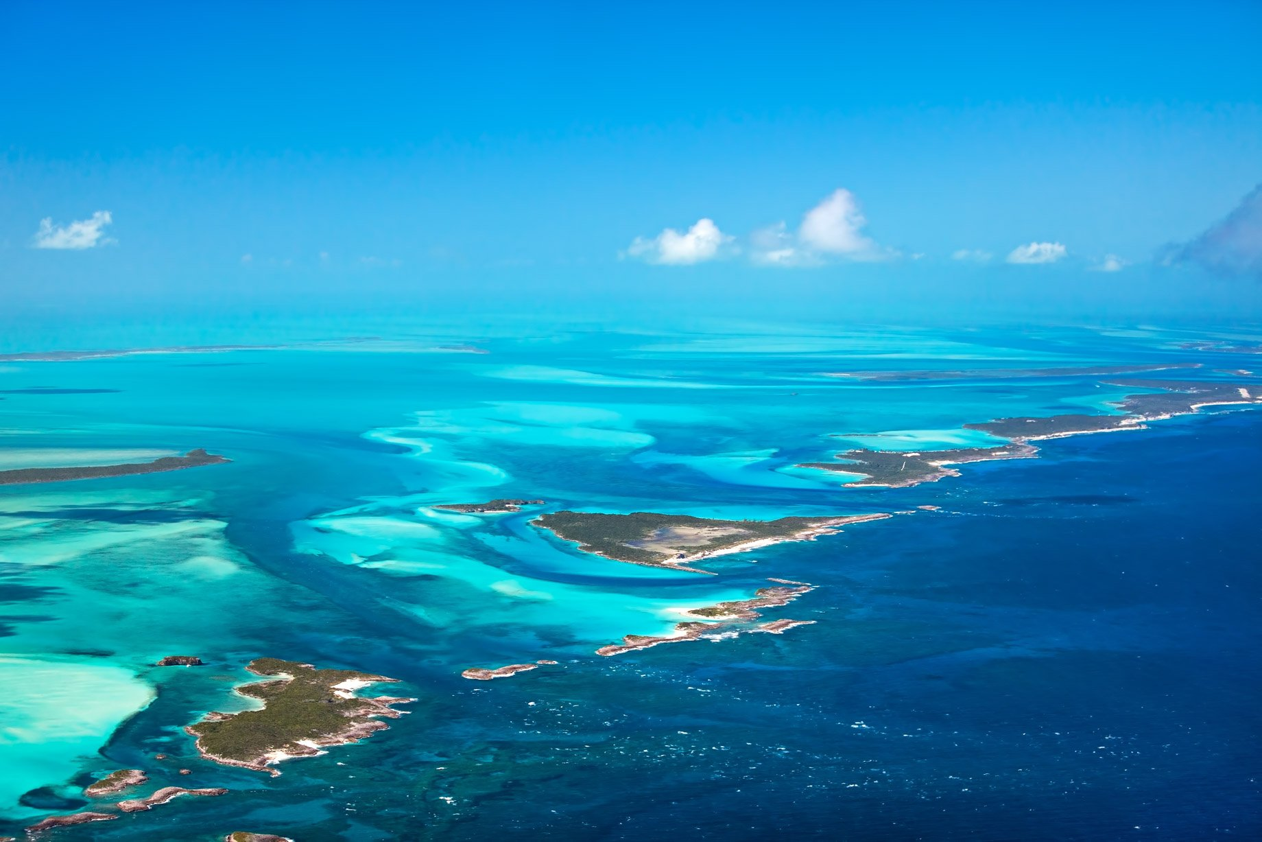 Bahamas dall'alto