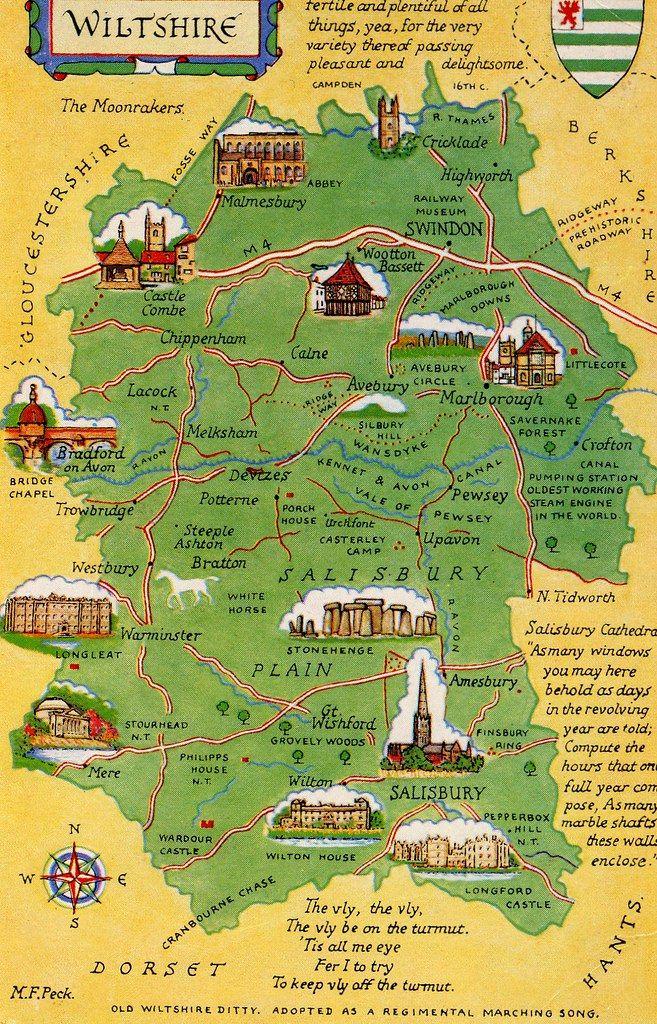 Mappa del Wiltshire