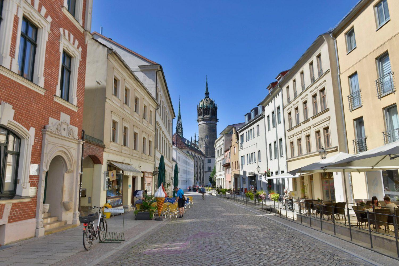 Schlossstrasse, Lutherstadt Wittenberg, Sachsen-Anhalt, Deutschland