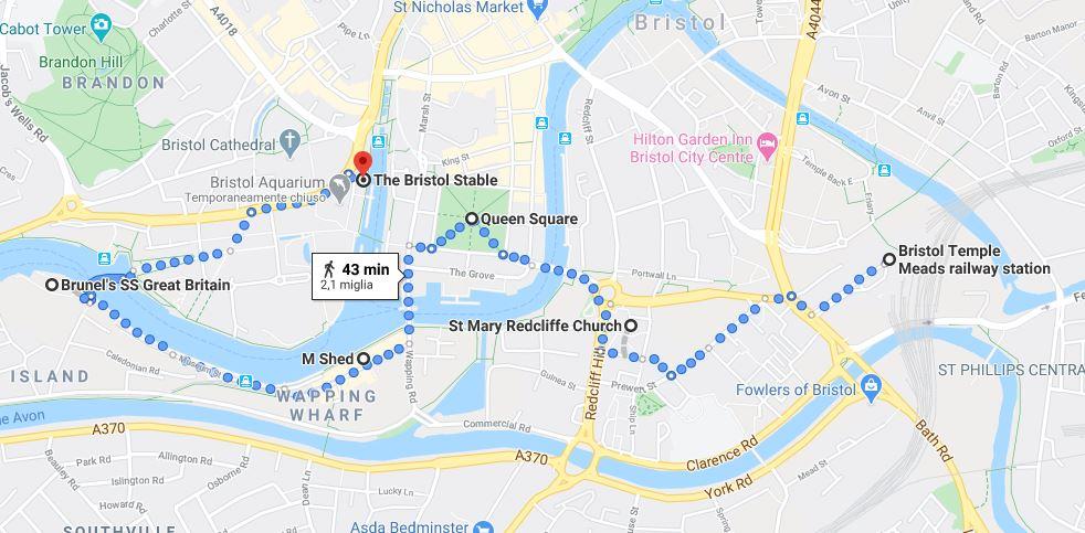 Itinerario Bristol giorno 1