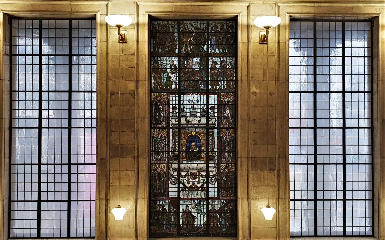 La vetrata della Central Library di Manchester