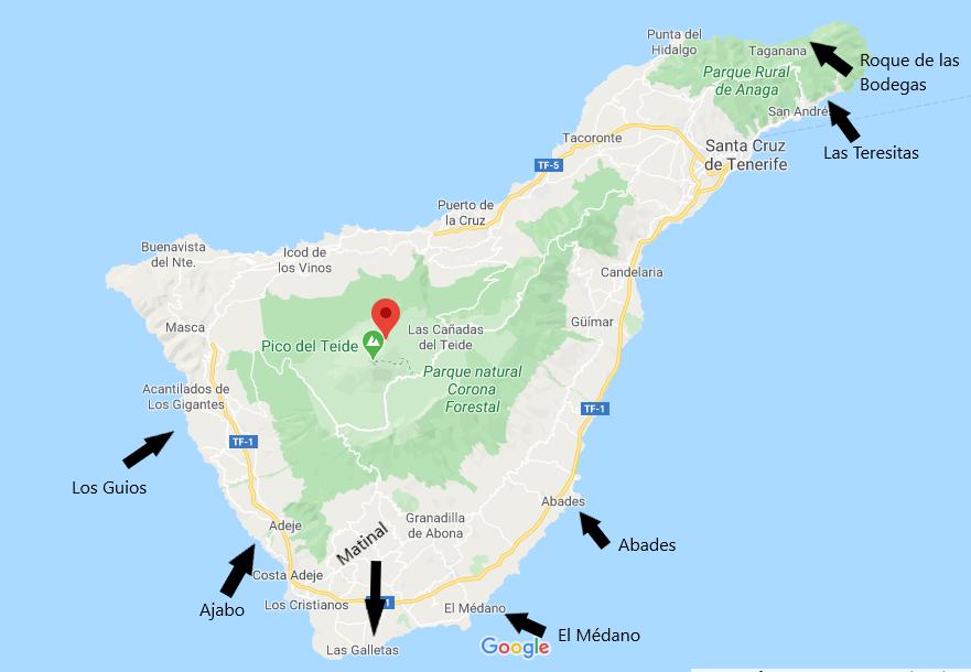 Le 7 spiagge di Tenerife