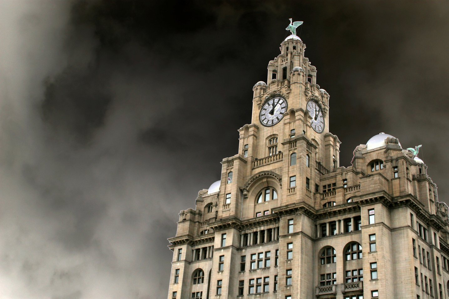 The Royal Liver Building, Pier Head, Liverpool, Merseyside, UK