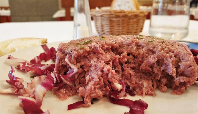 Il pranzo al ristorante Antica posta per Cortona 1745