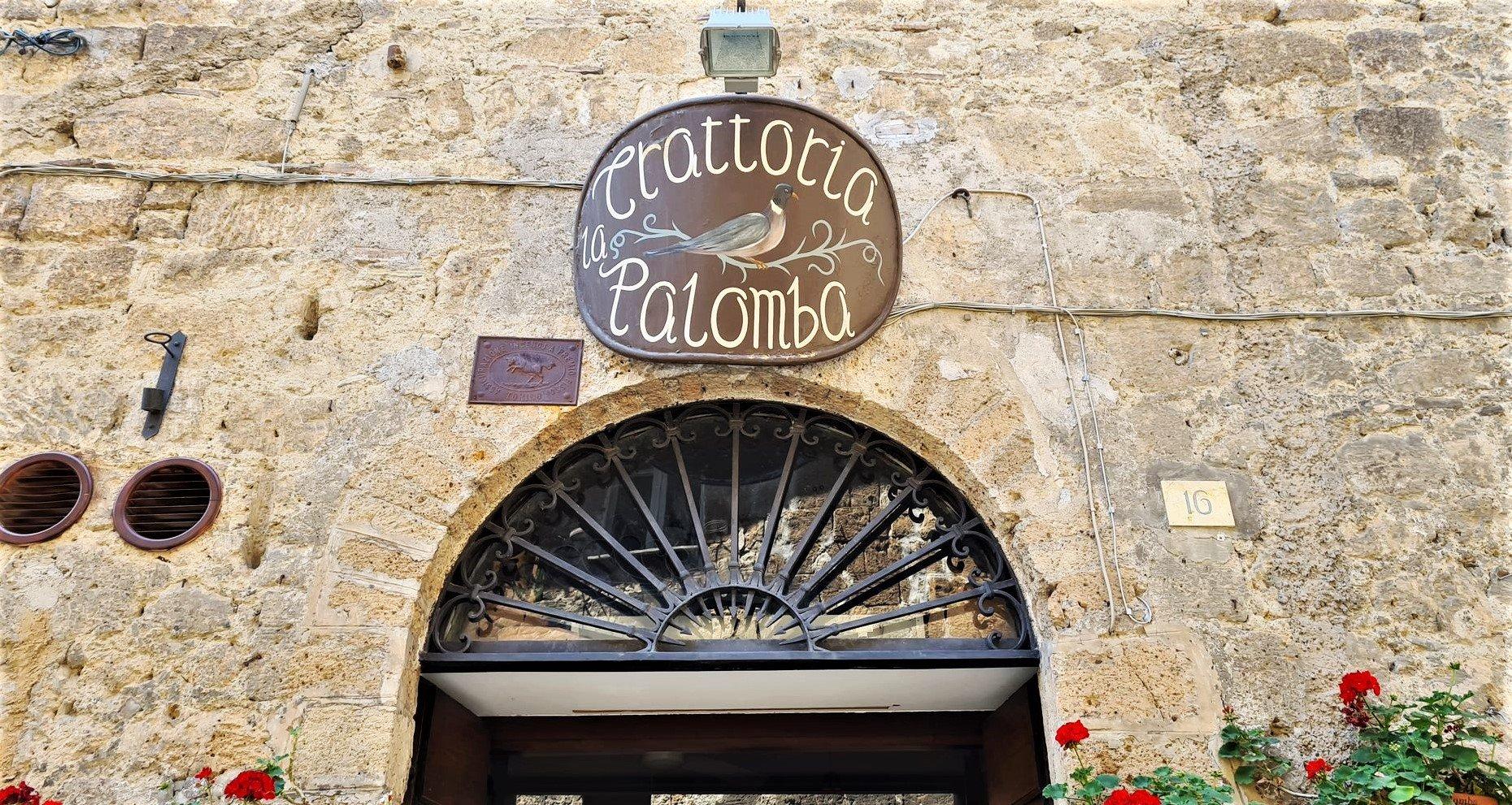 Dove si trova la trattoria La Palomba a Orvieto