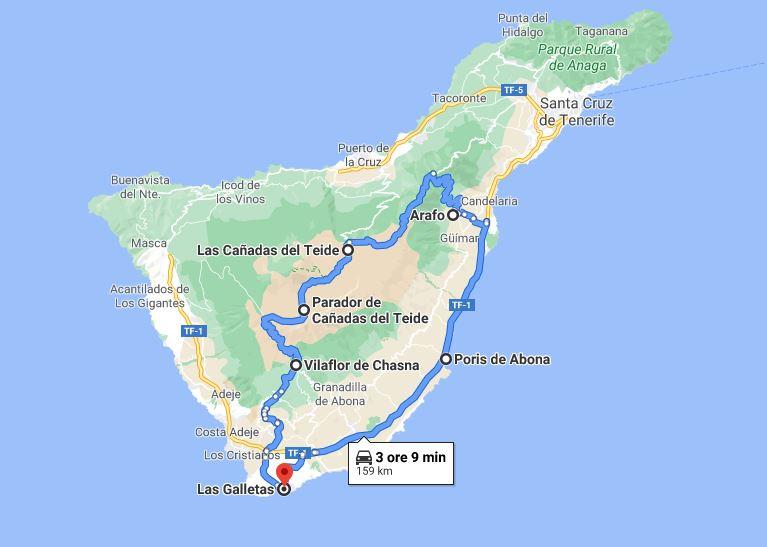 Tenerife Itinerario ad anello intorno al Teide
