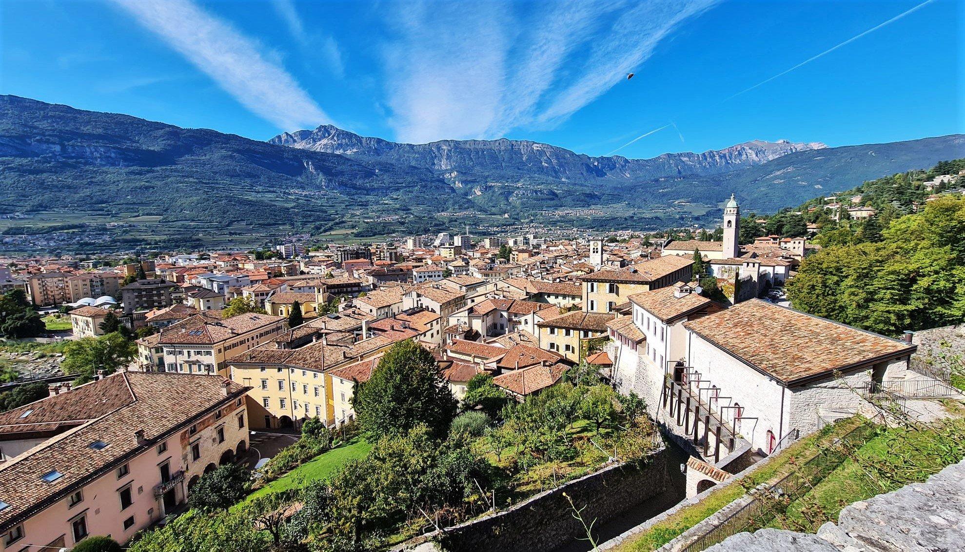 Il panorama su Rovereto