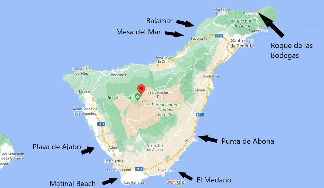 Spiagge Tenerife in base al mood
