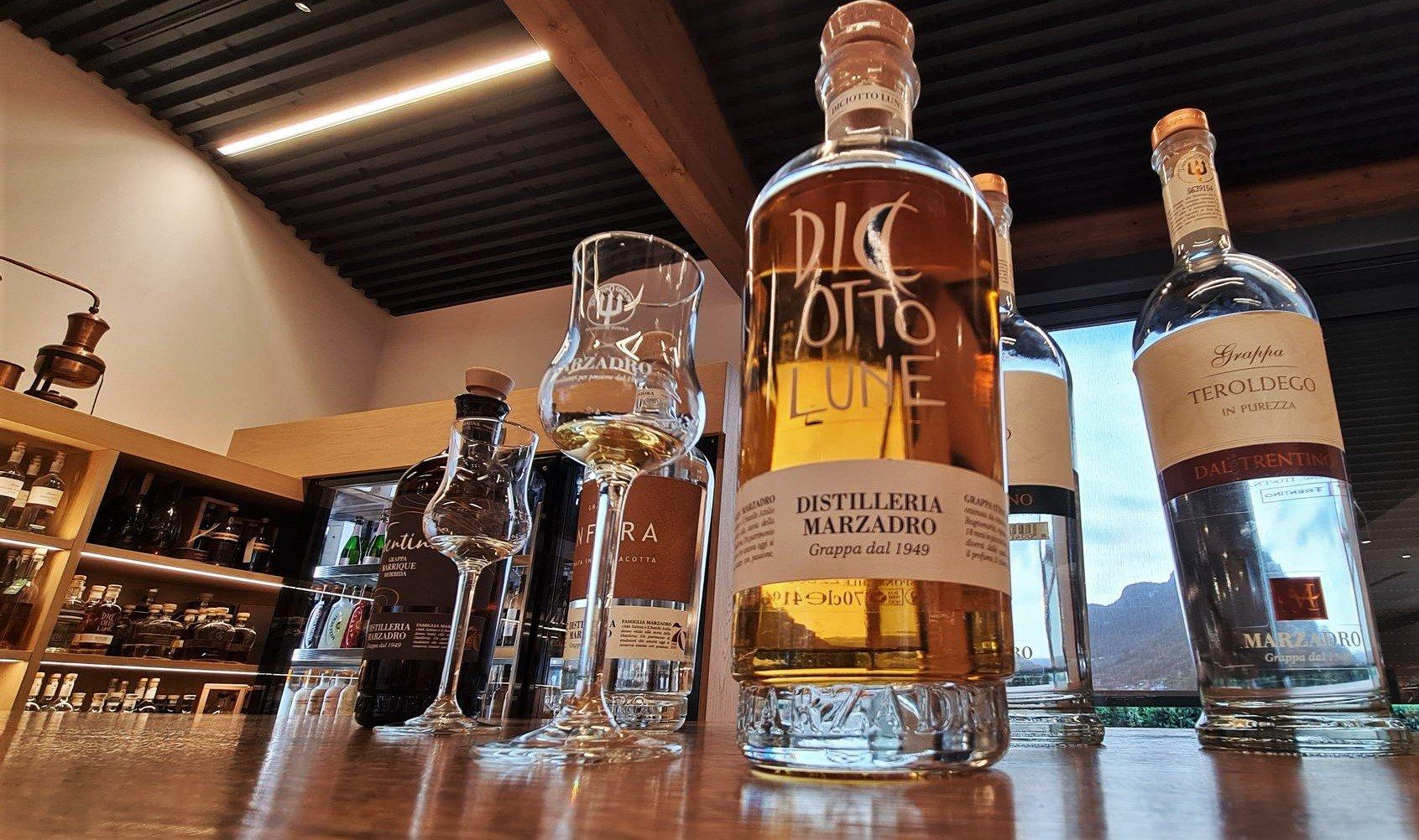 I prodotti della distilleria Marzadro