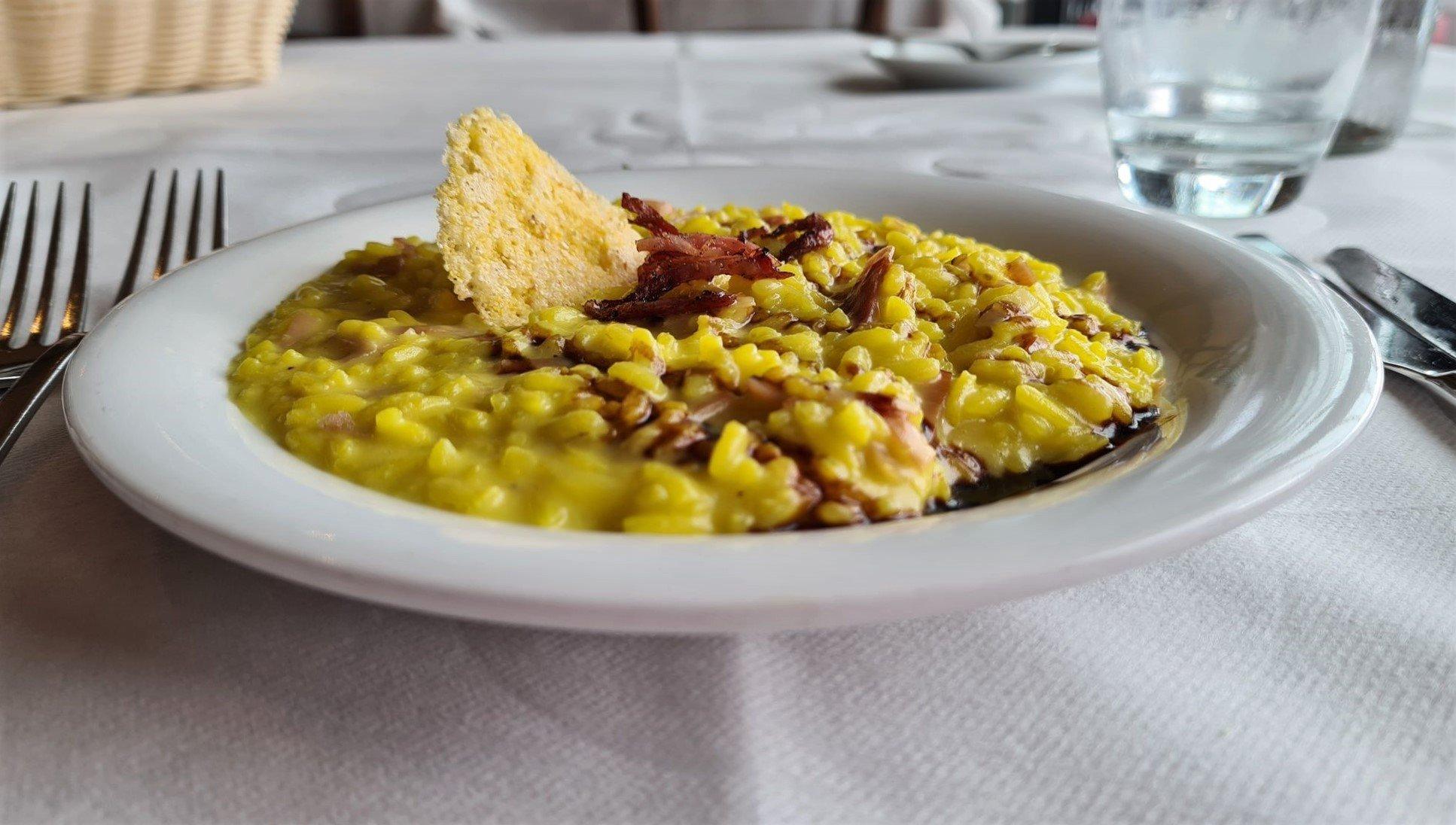 RIsotto con Carne Salada e Balsamico Trentino