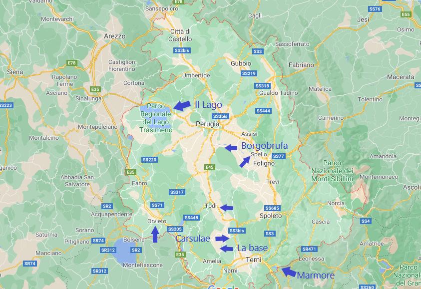 7 giorni di viaggio in Umbria