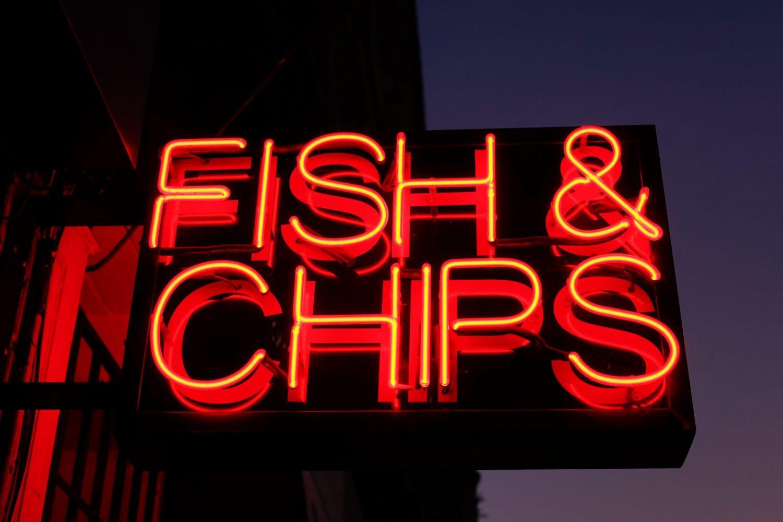 Il mio amore per l'Inghilterra Fish and chips