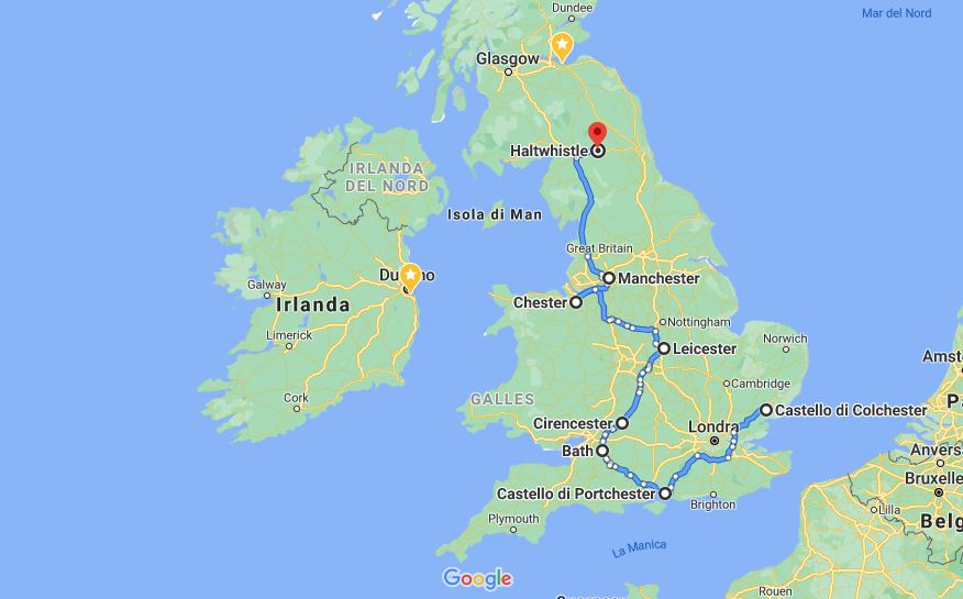 Itinerario britannia romana