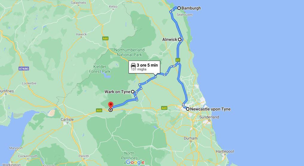 Itinerario di viaggio in Inghilterra Il Northumberland