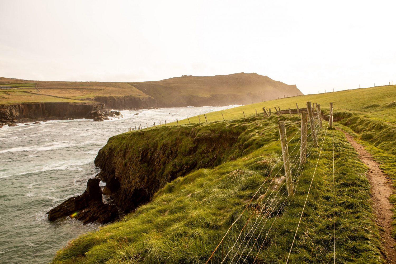 I verde della Penisola di Dingle in Irlanda