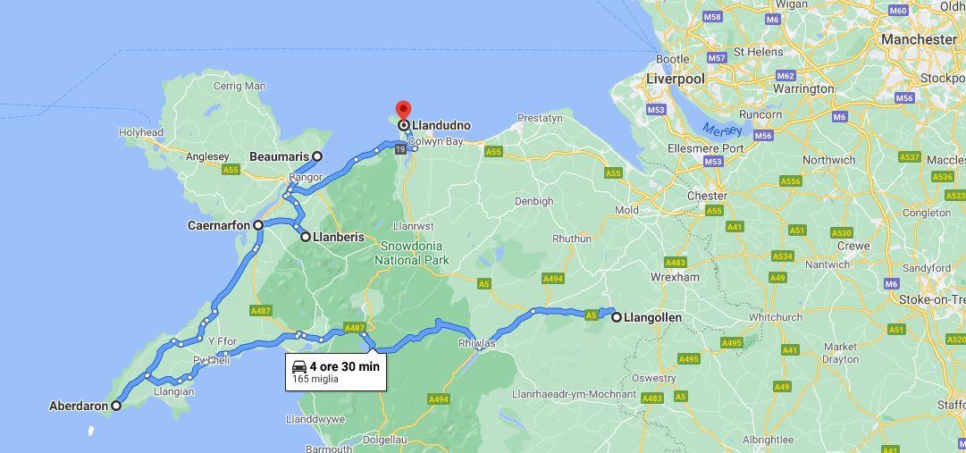 Itinerario 7 giorni nord del Galles