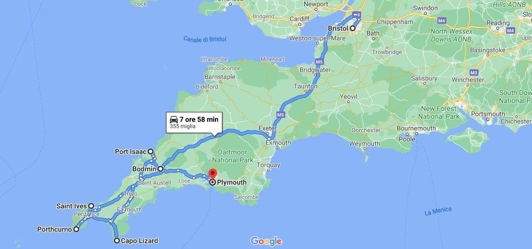 Itinerario di viaggio 7 giorni in Cornovaglia