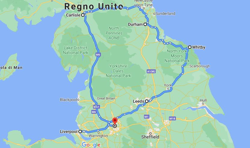 Itinerario 7 giorni nord Inghilterra