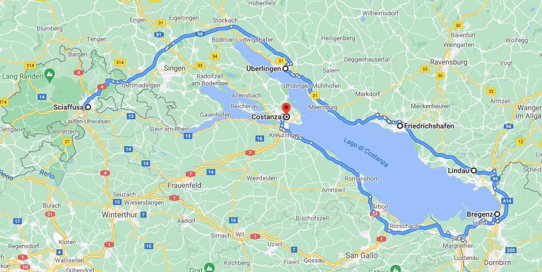 Itinerario intorno al lago di Costanza