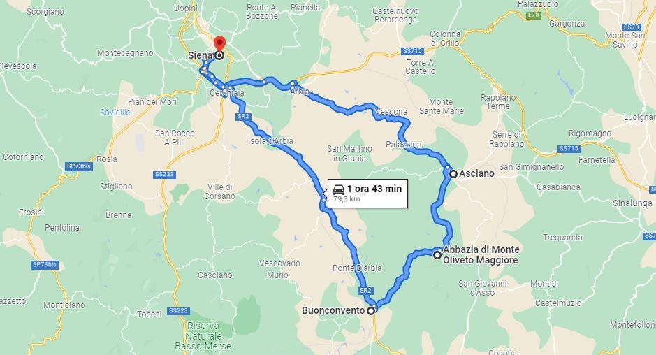 Itinerario Crete Senesi e Via Cassia
