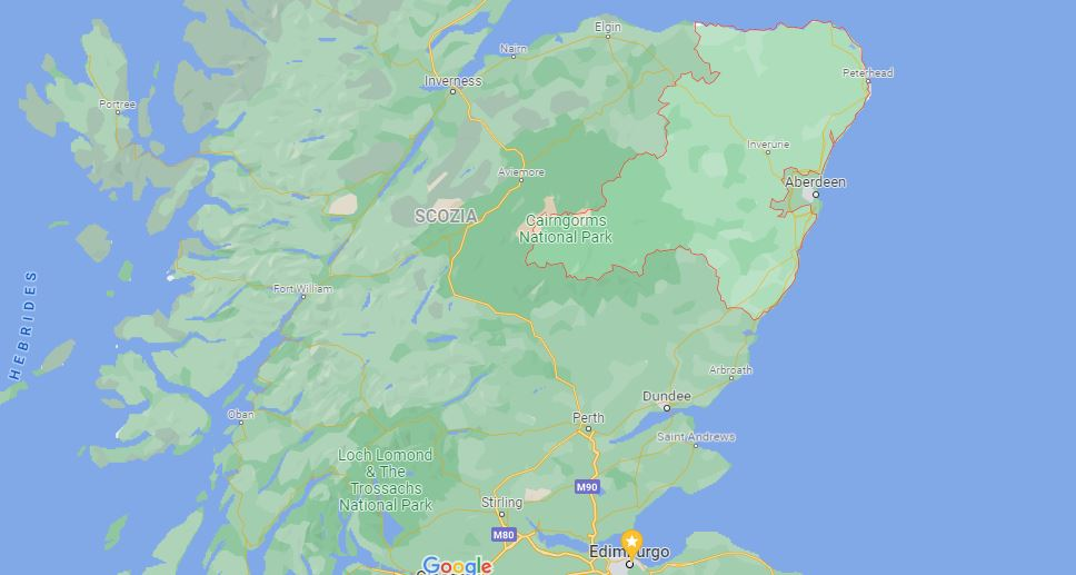 Aberdeenshire in scozia